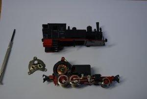 Reparatur einer Lok Spur N Instandsetzung Wartung